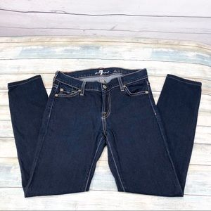 7 FOR ALL MANKIND The Skinny Dark Wash Jeans 25